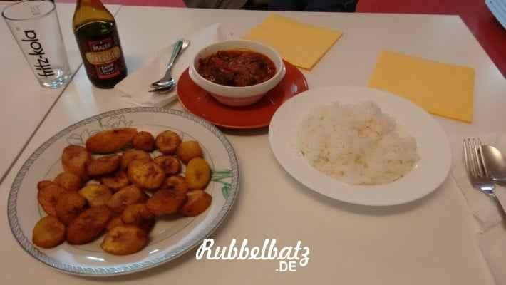 So sah dann also das Afrikanische Mittag vom Rubbelpapa aus!