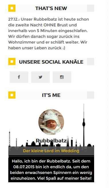 "Unser neuestes Feature. Unser ""THATS NEW""-Widget!"