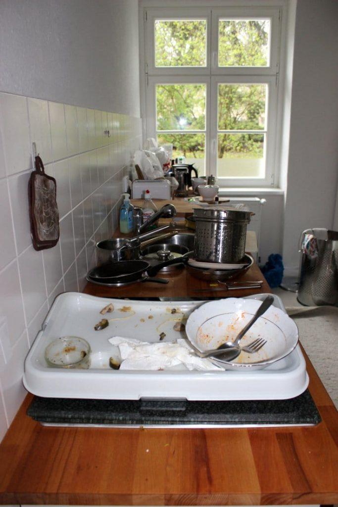 Unordnung Küche