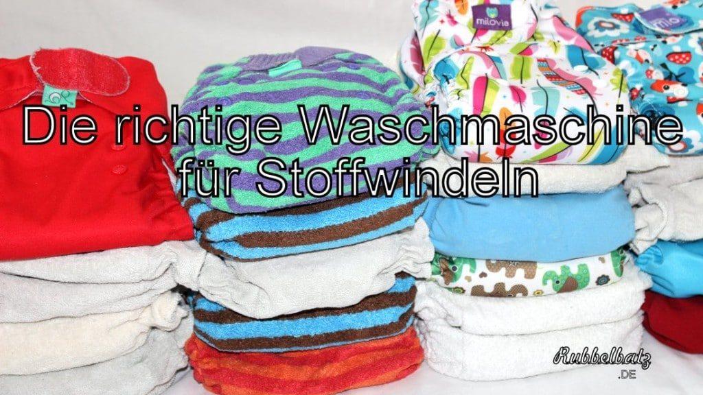Waschmaschine mit Windelprogramm für Stoffwindeln