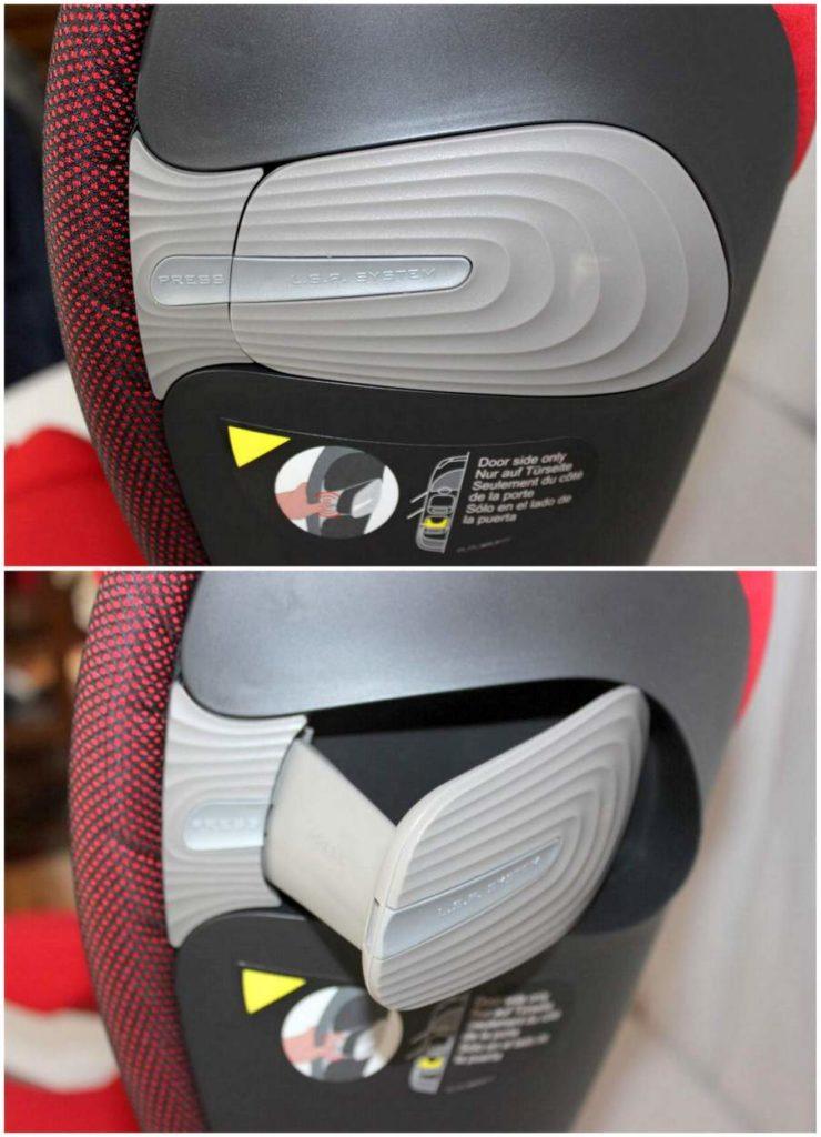 Seitenaufprallschutz vom Cybex Pallas S-Fix Autokindersitz