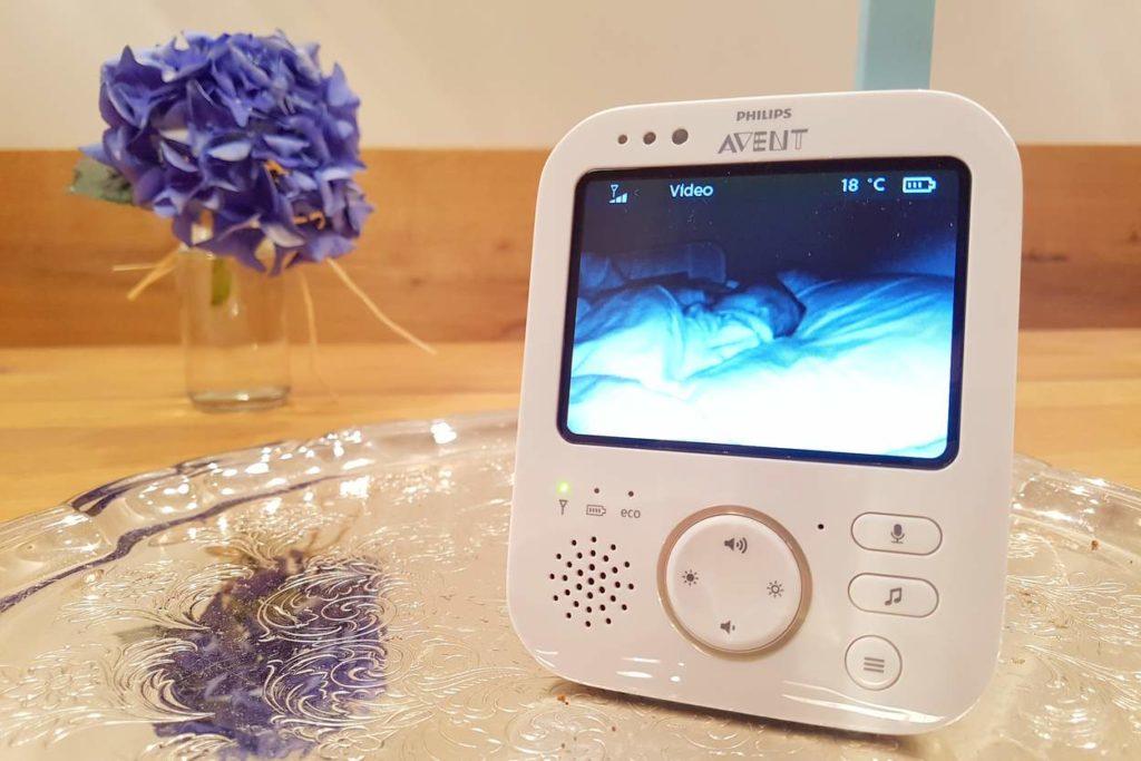 Nachtsichtmodus mit scharfem Bild auf Philips Avent 841/26 Babyphone