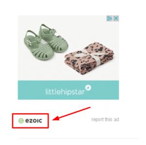Banner mit kleinem Ezoic Icon
