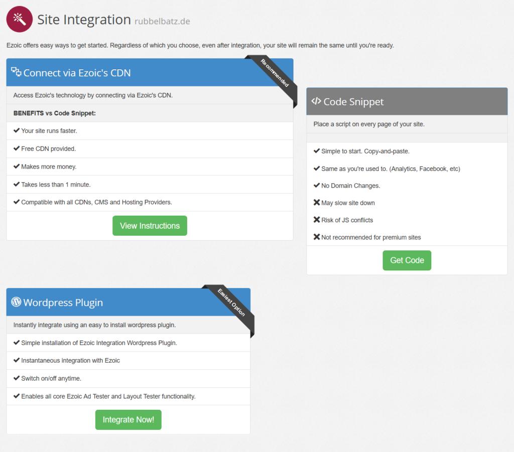3 Möglichkeiten, um Webseite mit Ezoic zu verbinden