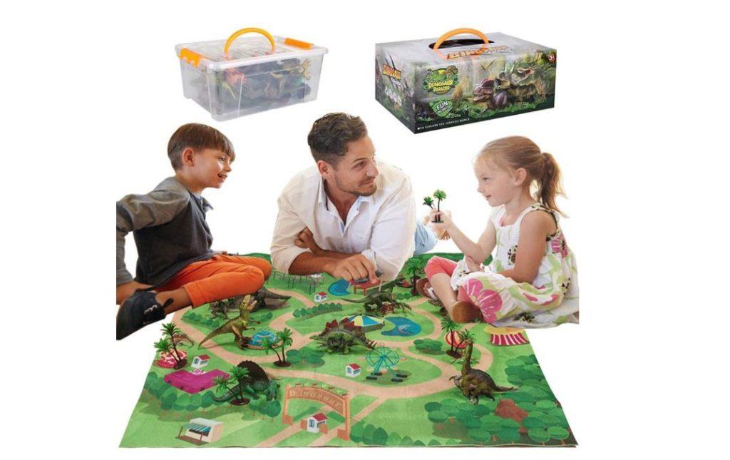Dinosaurier Spieleteppich mit Figuren