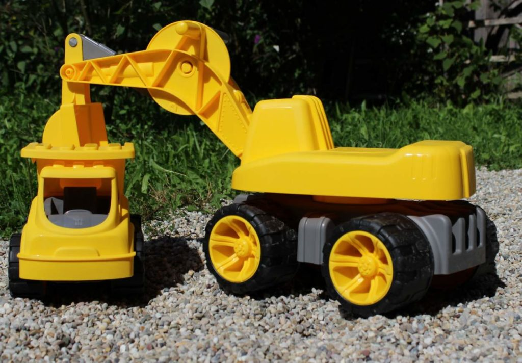 power-worker-bagger-big-lastwagen