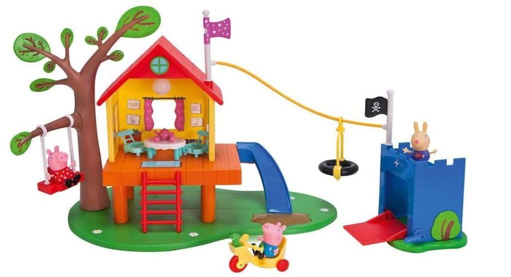 Peppa Wutz Spielfiguren mit Baumhaus